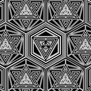 Gesichtsmaske Heilige Geometrie Muster