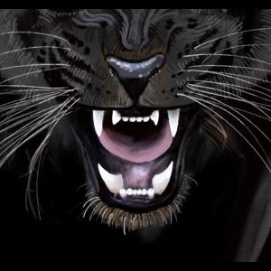 Panther Schnauze für Gesichtsmaske