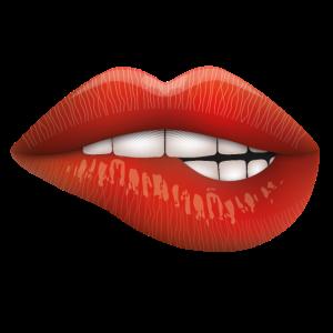 Lippen verspielt Rot