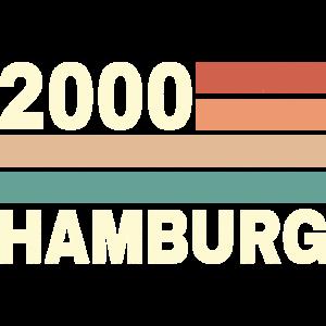 2200 Hamburg alte PLZ Nordseeinsel Hamburg retro