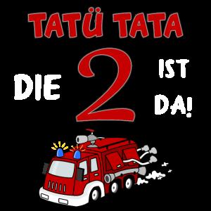2. Geburtstag Feuerwehrauto