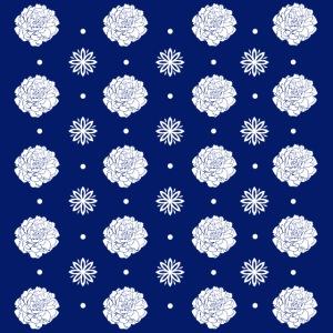 Repeat Blue Flowers by VINRECH 3D