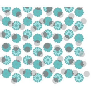 Blumenmuster Türkis