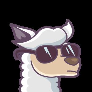 Mundschutz Lama