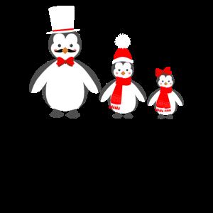 Pinguin Dad mit Pinguine Jungen