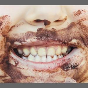 Schokomund Behelfsmaske