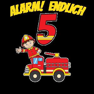 5.Geburtstag Junge Fünf Feuerwehr Kinder Geschenk