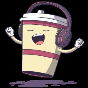 Singender Kaffeebecher