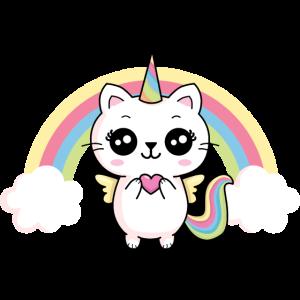 Katze Einhorn Regenbogen Kittycorn Meowicorn Kind