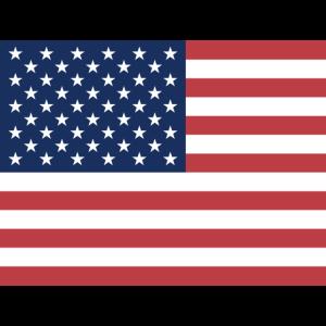 Mund- mit der Flagge USA