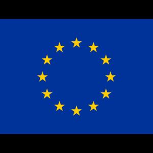 Mund- mit der Flagge Europa