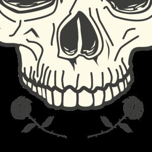 Totenkopf Totenschädel Rosen Tattoo