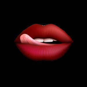 Zunge und Lippen