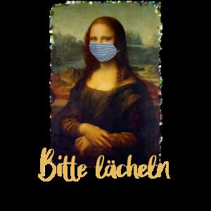 Mona Lisa mit Mundschutz, Bitte lächeln