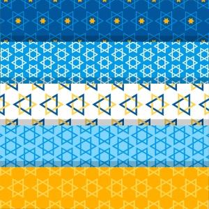 Magen David Rayas Azul Amarillo