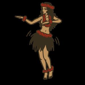 Hula Tanz Hawaii Frau Bastrock