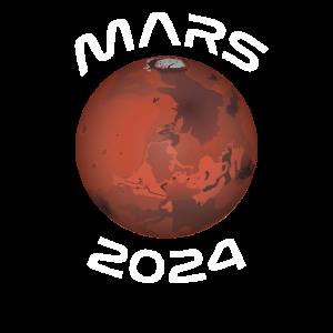 Mars 2024 Roter Planet Marsmission Raumfahrt