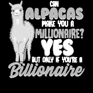 Alpaka Humor Kann Alpakas Sie zum Millionär machen