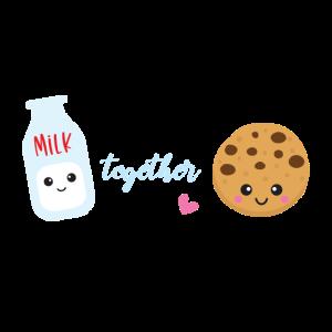Wir gehen zusammen wie Milch und Kekse