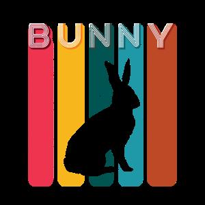 Retro Bunny Hasen Vintage Süßes Kaninchen Häschen