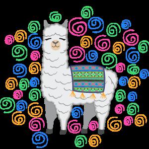 Lama Alpaka Mundschutz Geschenk Kinder