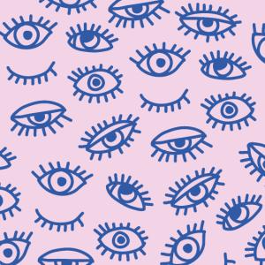Augenmuster Blau