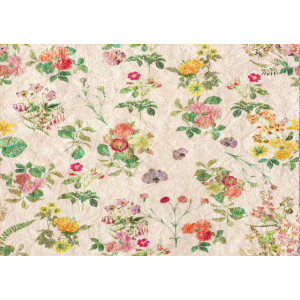 Vintage Blumen Tapetenmuster