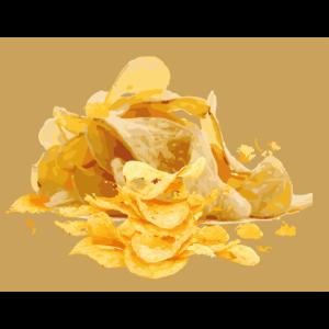 Den Mund voll Chips