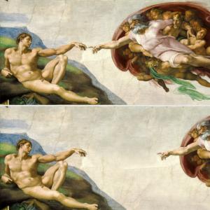 Social Distancing Maske: Michelangelo