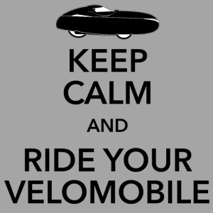 Keep calm and ride your velomobile black