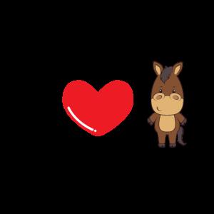 Pferd Ich liebe Pferde I love Horse