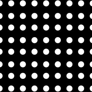 Schwarz Weiße Punkte monochrom und Rockabilly