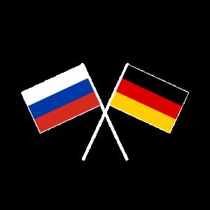 Russland Deutschland gekreuzte Fahne Flagge