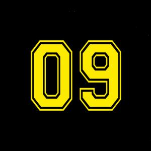 Gesichtsmaske Schwarz Gelb 09 Maske Dortmund