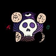 crâne lune des confins de l'espace atelier kôta illustration dessins boutique produits artist