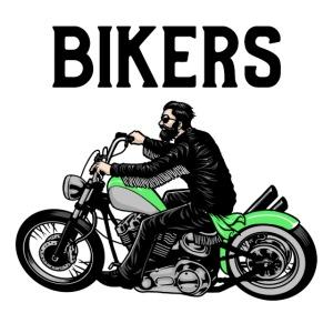 Green bikers