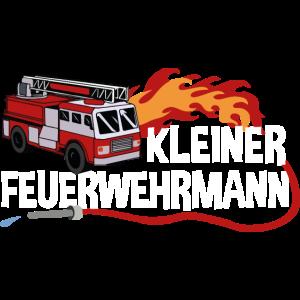 Kleiner Feuerwehrmann Kinder Feuerwehrauto Feuer