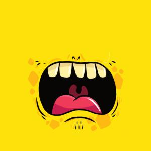 Gesichtsmaske Gesichtsbedeckung Monster Gelb