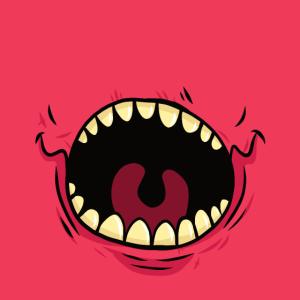 Gesichtsmaske Gesichtsbedeckung Monster Rot