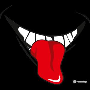 Maske Lachen mit Zunge