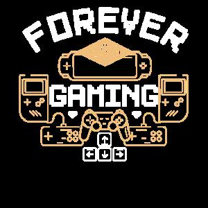 Gamer Forever Gaming Retro Videospiele zocken