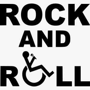 > Ik rock en roll in mijn rolstoel