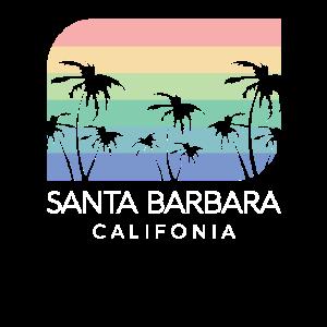 Santa Barbara California Beach Coast Retro