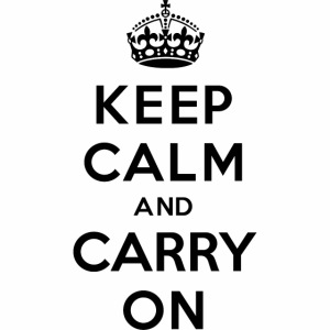 Black Keep Calm And Carry On