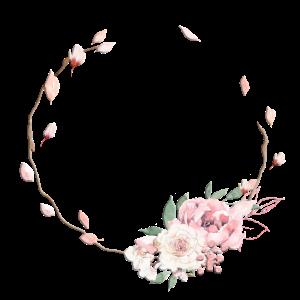 Blumen Halb-Kranz Pastell personalisierbar