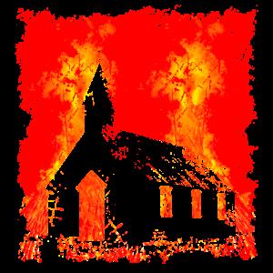 Brennende Kirche
