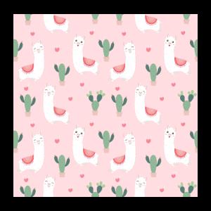 cute alpacas cactus