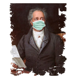 Goethe Dichter Mundschutz Meme Quarantäne Gemälde