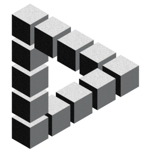 Unmögliche Figur Escher Geometrie Phantasie