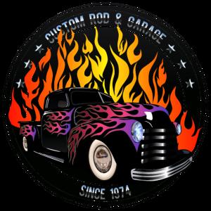 Hot Rod Flamme Garage Oldtimer benutzerdefinierte Logo